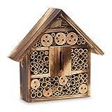 Relaxdays 10020084_470 Insektenhotel gebrannt HBT Bienenhotel aus Naturmaterialien als Unterschlupf
