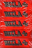 Sampler Pack 5 Packets Rizla Red King Size Cigarette Rolling papers
