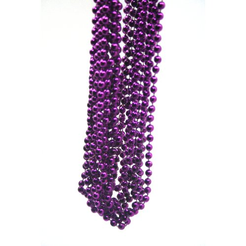 Purple Bead Necklace (1 dz)