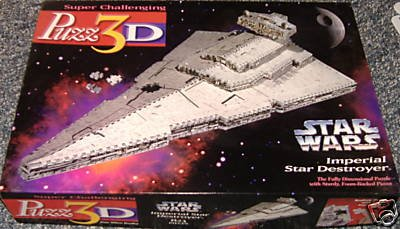 Cheap Milton Bradley Puzz3D Star Wars Imperial Star Destroyer; 823 Pc 3-D Jigsaw Puzzle (B001G47AMU)
