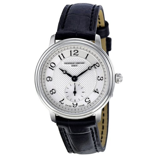 fbb9a9217cd4b Frederique Constant Women s FC 235AS1S6 Slim Line Black Leather Strap Watch