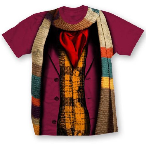 Doctor Who: Tom Baker 4th Doctor Costume T-Shirt