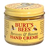 Burt's Bees Beeswax and Banana Hand Creme, 2-Ounce Jar (Pack of 4) by Burt's Bees