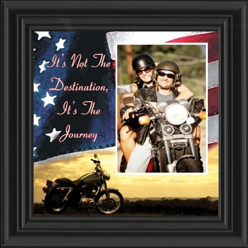 Motorcycle, Harley Davidson, Picture Frame, The Destination American Flag 6503DTUSFL Personalized