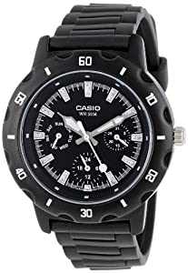 Casio Women's LTP1328-1EV Sport Classic Black Analog Dial and Resin Strap Watch