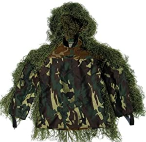 Synthetic Ultra-Light Sniper Ghillie Leafy Green BDU Jacket Small