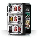 STUFF4 Phone Case Cover for HTC Desire 820 Cherries Design Slot Machine Collection