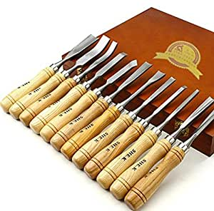 Hot sale New Wood carving tools 12PCS wood carving knife High quality Wooden handle Woodworking