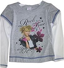 Disney Little Girls Grey White Hanna Montana Floral Long Sleeve T-Shirt 4-6