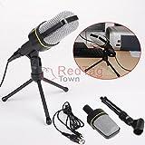 Professional 3.5mm Podcast Studio Microphone Mic For Skype Desktop PC Notebook