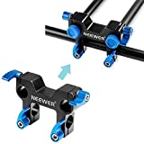 Neewer® 90 Degree Aluminum Alloy Rod Clamp Railblock for Inserting Side Handles/15mm DSLR Rod Rig Rail System to Mount Follow Focus/Magic Arm and Other Accessories