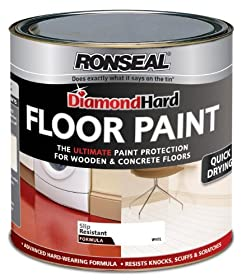 Ronseal DHFPWH25L 2.5L Diamond Hard Floor Paint - White by Ronseal