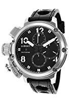 U-Boat Men's Chimera Sideview Automatic Chronograph Black Genuine Crocodile by U-Boat