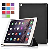 iPad Pro Case , Exact [SLENDER Series] iPad Pro 12.9inch Case - Ultra Slim Lightweight Smart-shell Stand Case for Apple iPad Pro (2015 release) (With Auto Wakes/Sleep Function) Black