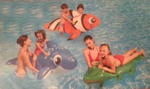 TrueLiving Kids Animal Surf Rider Pool Toy - Clown Fish