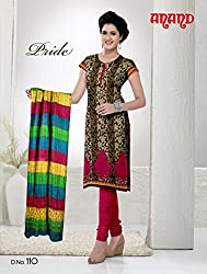 Anand Prints Women's Cotton Unstitched Dress Material (Dno110_MultiColored)