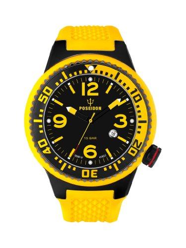 Kienzle K2021173123-00258 - Orologio da polso uomo, silicone, colore: giallo