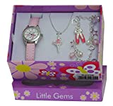Ravel Children's Jewellery Set: Little Gems Ballerina Watch, Ballerina Bracelet, Ballerina Necklace in Presentation Box