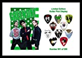 Green Day Guitar Pick Display (A4 Sized)