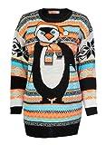 Forever Womens Aztec Penguin Print Neon Christmas Jumper