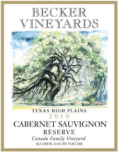 Becker Vineyards 2010  Reserve Cabernet Sauvignon 750 mL