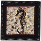 Thirstystone Ambiance Coaster Set, Pearlized Seahorse, Multicolored