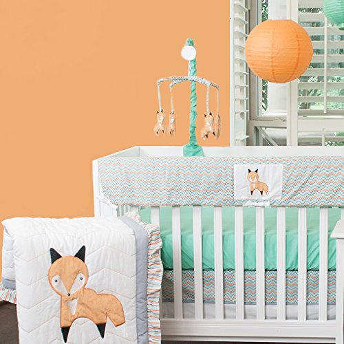 Pam Grace Creations Friendly Fox Mix & Match 10 Piece Crib Bedding set