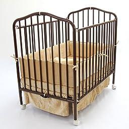 Compact Folding Metal Crib Finish: Chocolate