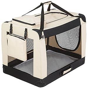 Cage de transport pour chien pliable