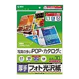 SANWA SUPPLY LBP-KAGNA4 カラーレーザー用フォト光沢紙・厚手