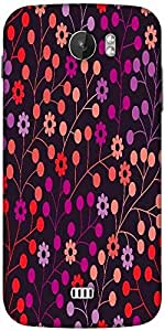 Snoogg Seamless Pattern With Leaf Copy That Square To The Side And Youll Get Seaml Designer Protective Back Case Cover For Micromax A110
