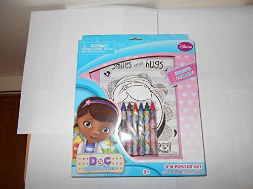 Disney Doc Mcstuffins 3d Poster Set with Crayons Blue Multi