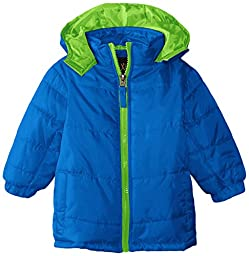 iXtreme Baby Boys\' Ripstop Puffer Pop Color Zipper, Royal, 24 Months