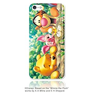 ディズニー iPhone5 ケース くまのプーさん「はじめまして 」(ピュアホワイト)