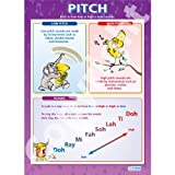 Voice Pitch Music Educational Wall ChartPoster in laminated paper A1 850mm x 594mm