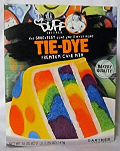 Duff Goldman, Tie-Dye, Premium Cake Mix, 18.25oz Box (Single)