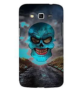 Green Horror Skull Graphics 3D Hard Polycarbonate Designer Back Case Cover for Samsung Galaxy Grand Neo Plus :: Samsung Galaxy Grand Neo Plus i9060i
