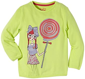 Tom Tailor Kids - Sweat-Shirt Fille - Vert - Grün (Sharp Green) - FR : 3 Ans (Taille Fabricant : 92/98) (Brand size : 92/98)