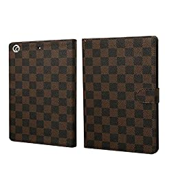 HM-ANT(TM) Luxury Quilted Premium Pu Leather Case Cover with Magnetic Auto Sleep Wake Function for New Apple Ipad Air 5th Free Screen Protector and Matching Stylus (NO.12)
