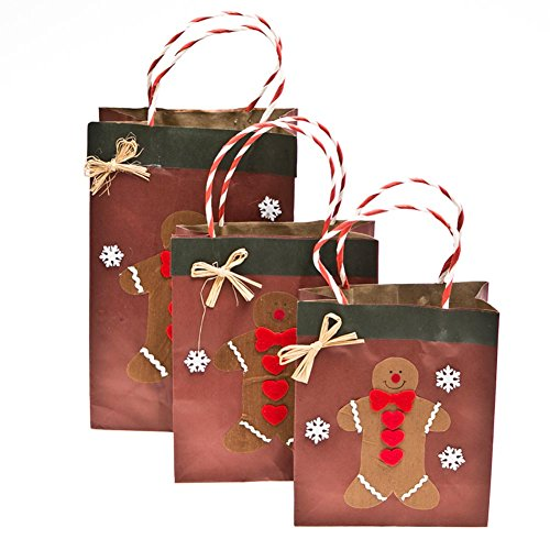 Assorted Gingerbread Man Gift Bags - 1