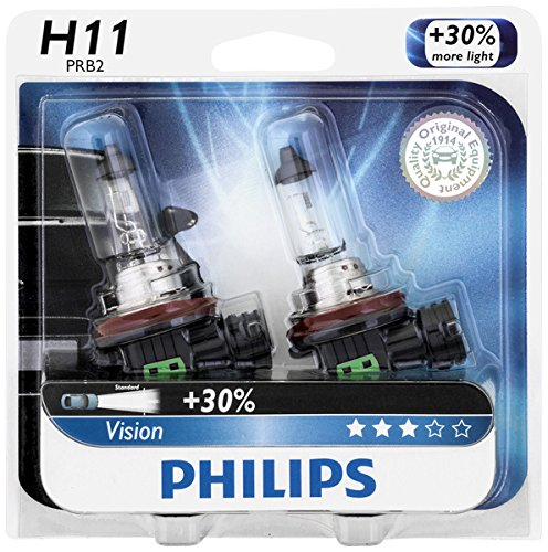 Philips H11 Vision Upgrade Headlight Bulb, 2 Pack (Mitsubishi Lancer 2012 Headlight compare prices)
