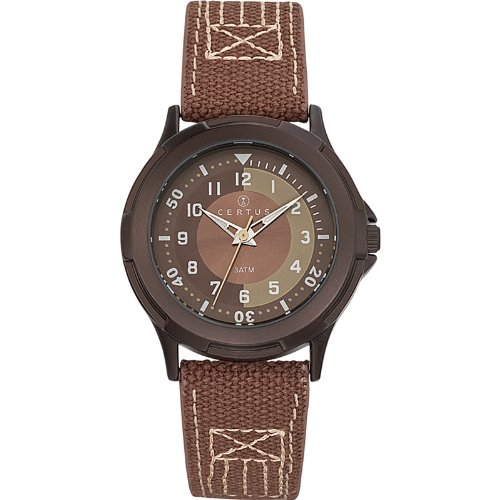 Certus - 647558 Synthetic Strap Unisex Watch - Analogue Quartz - Brown Dial - Brown