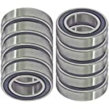 10 Bearing 5x10 Sealed 5x10x4 Miniature Ball Bearings VXB Brand