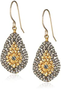 Miguel Ases Soft Pewter Single Lotus Petal Earrings
