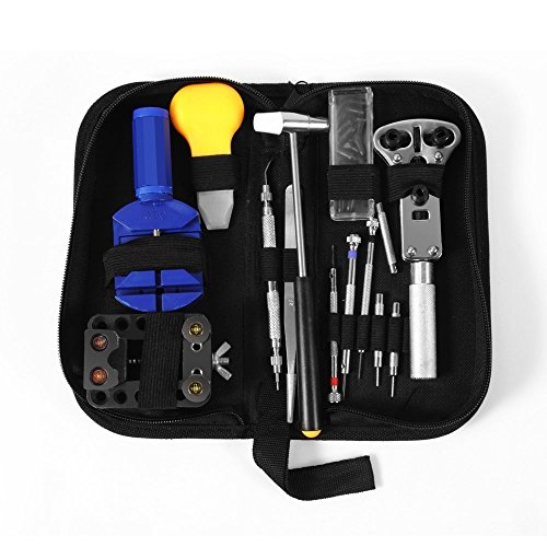 SpeedControl Lightweight Practical 13 Piece (pcs) Watch Repair Tool Kit Case + a Hammer (Husky Tools Warranty compare prices)