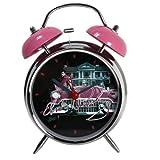 """Elvis """"Pink Car"""" Retro Alarm Clock"""