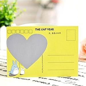 Letter GuestBook Secret Message Notes(5Pcs£º Love Heart Shape