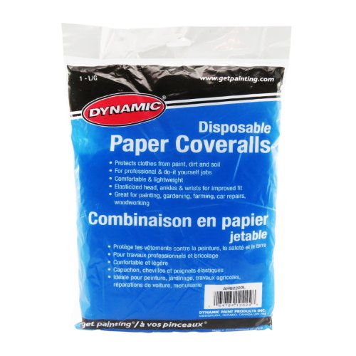 Dynamic Paint AH02200L Disposable 1.6-Ounce Paper Coverall, Size Large