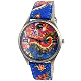 Super Drool Blue Paisley Wrist Watch