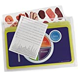 """Nasco WA29841 MyPlate Deluxe Cling Kit, 5 Plastic 19"""" x 11"""" Place Mats with 142 Food Clings"""